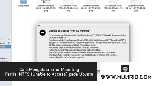 Cara Mengatasi Error Mounting Partisi NTFS Unable to Access pada Ubuntu