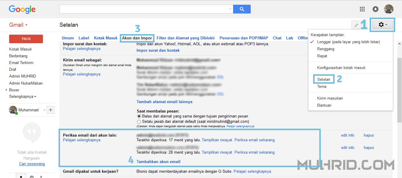 Akun dan Impor Google Mail