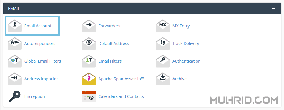 Email Accounts cPanel