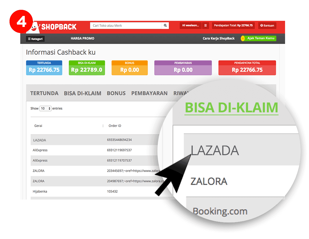 Cara Mendapat Casback di ShopBack 4