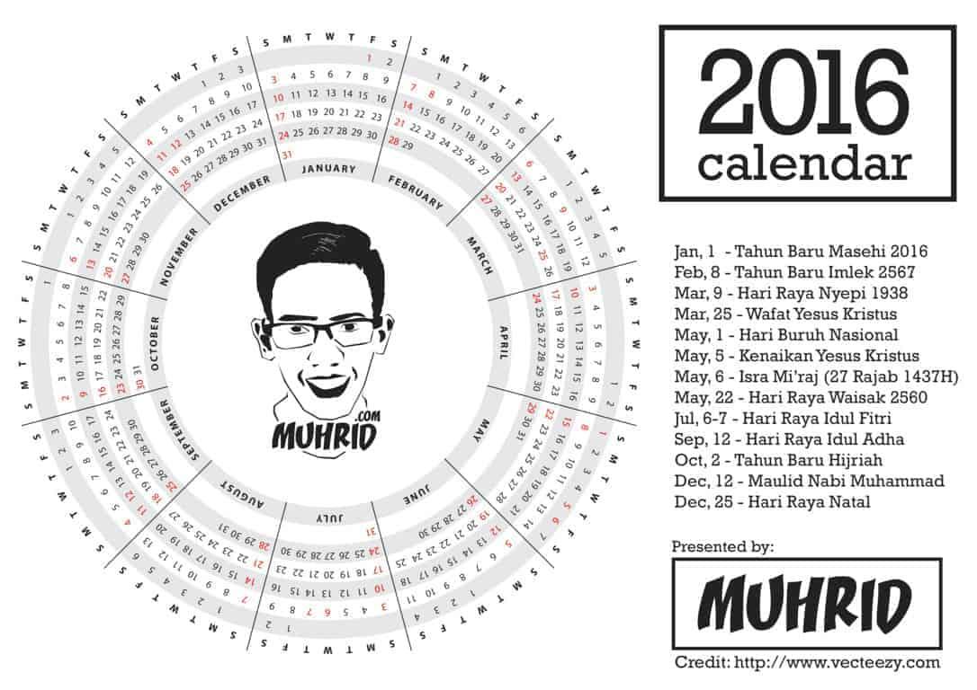 Kalender MUHRID Tahun 2016
