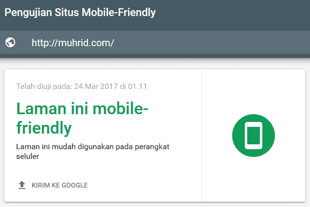 Pengujian Situs Mobile Friendly