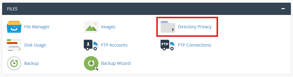 Pilih Fitur Directory Privacy