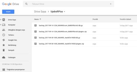 Cara Backup WordPress Otomatis ke Google Drive Tanpa Ribet