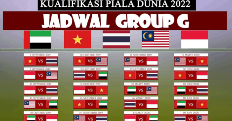 Jadwal Bola Indonesia: Jadwal lengkap pertandingan Grup G kualifikasi Piala Dunia 2022